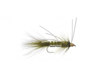 Wooly Bugger Olive w. White Rubberlegs