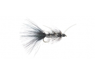 Wooly Bugger-Black and Grizzly w . White Rubberlegs