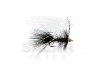 CH-Eye Wooly Bugger Black w. White Barred Rubberlegs