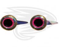 Silver pink tab eyes