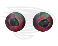 sparkling opal red fish eye