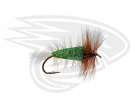 GREEN-White Tail-Brown Hackle