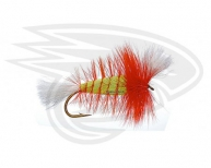 LIME-White Tail-Hot Orange Hackle