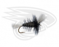 BLACK-White Tail-Black Hackle