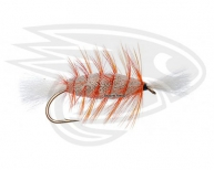 GRAY-White Tail-Hot Orange Hackle