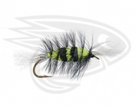 ZEBRA-BLACK/CHARTREUSE-White Tails-Black Hackle