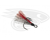 Bucktail-Grey-Red-Silver-Flash