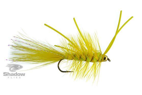Wooly Bugger-TDF Yellow w. Yellow Rubberlegs