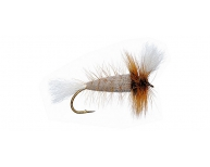 GRAY-White Tail-Brown Hackle