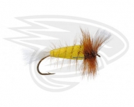 YELLOW-White Tail-Brown Hackle
