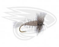 GREEN OLIVE-W. Tail-Gray Hackle w. Fl. Green Butt