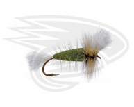 DARK OLIVE-White Tail-Silver Badger Hackle